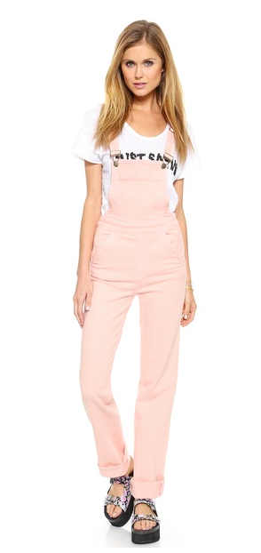 Wildfox pink overalls
