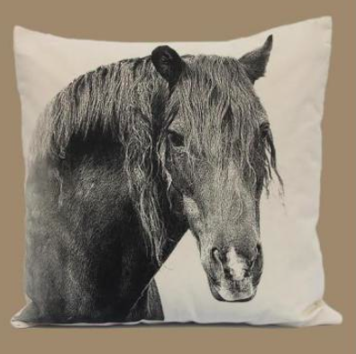 Eric and Christopher Horse Pillow, made in USA!