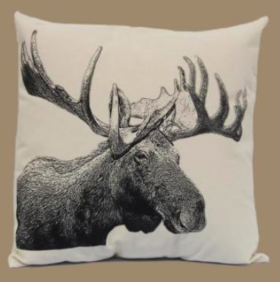 Eric and Christopher Moose Throw Pillow made in USA