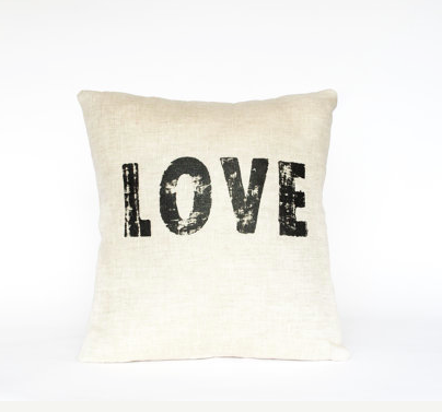 LOVE pillow by Casa & Co!