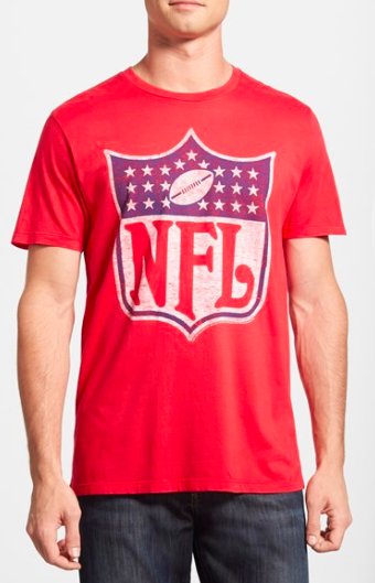 Throw an American Made Football party! Buy this made in USA NFL shirt by Junk Food for your man!