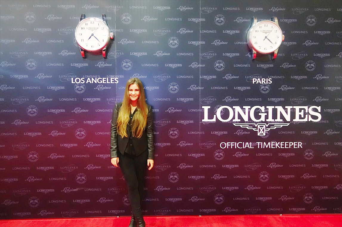 In all made in USA Helmut Lang at the Longines Masters Grand Slam Horse Show in Los Angeles! My Weekend Has Me Missing My Past!