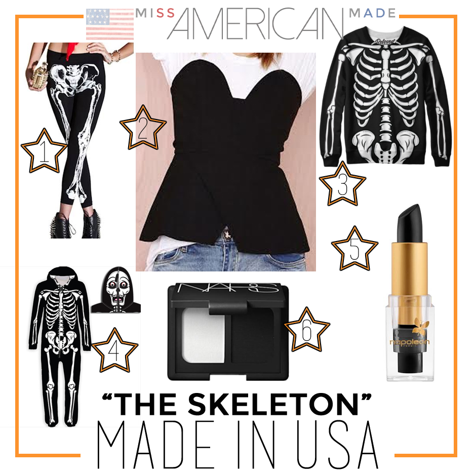 Skeleton Halloween Costume Ideas Made In USA