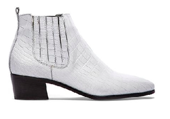 Modern Vice Handler Boot in White