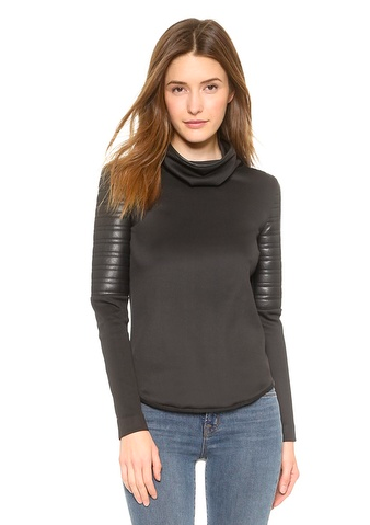 Bonded Faux leather top by generation love