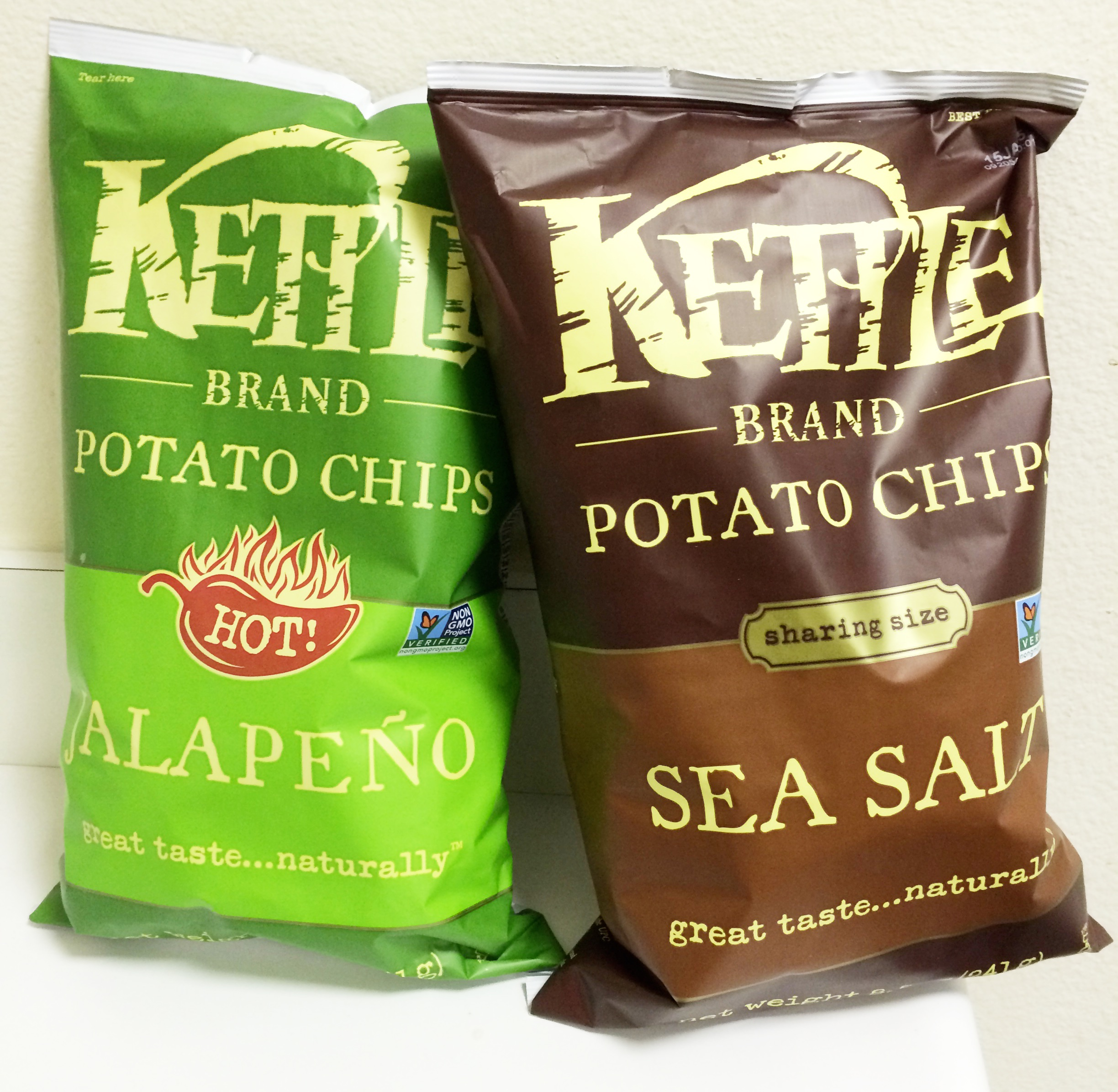 Made in USA chips. Kettle Brand. Deliciousness