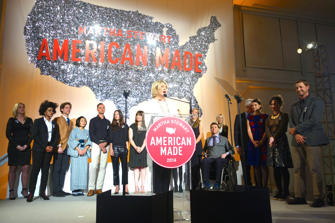American Made Awards hosted by Martha Stewart. Martha and the winners!