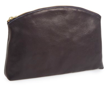 Leather clutch by Baguu made in USA