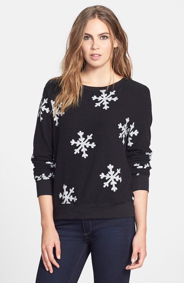 Snowflake Pullover Made in USA by Wildfox