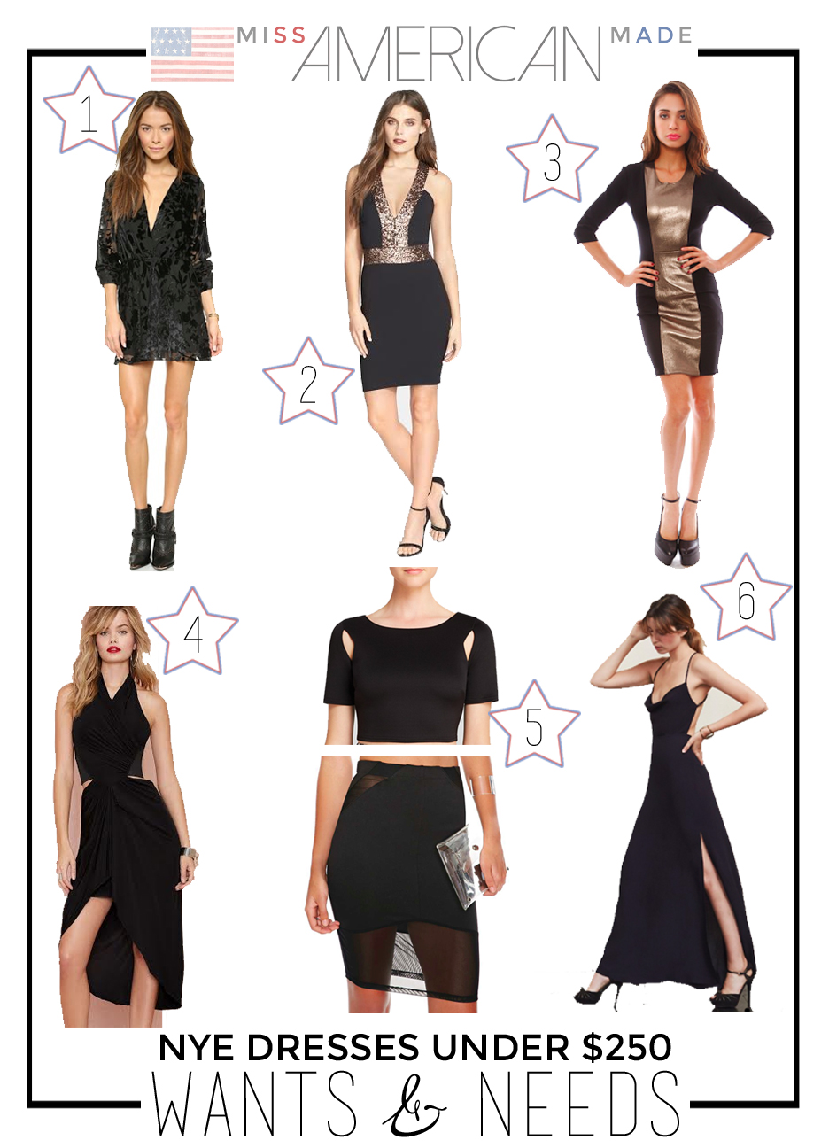 New Year's Eve Dresses made in USA under $250