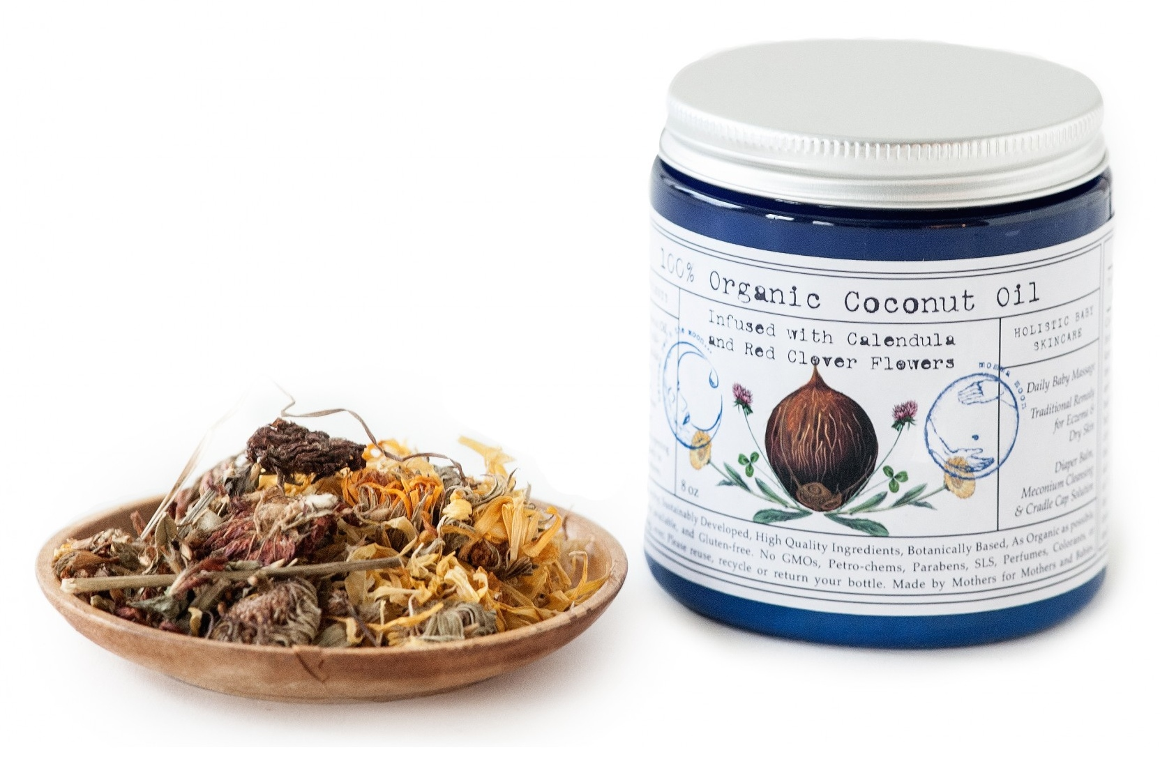 Coconut Oil made in USA by Brooklyn Herborium. Under 30 dollars, cyber monday deal
