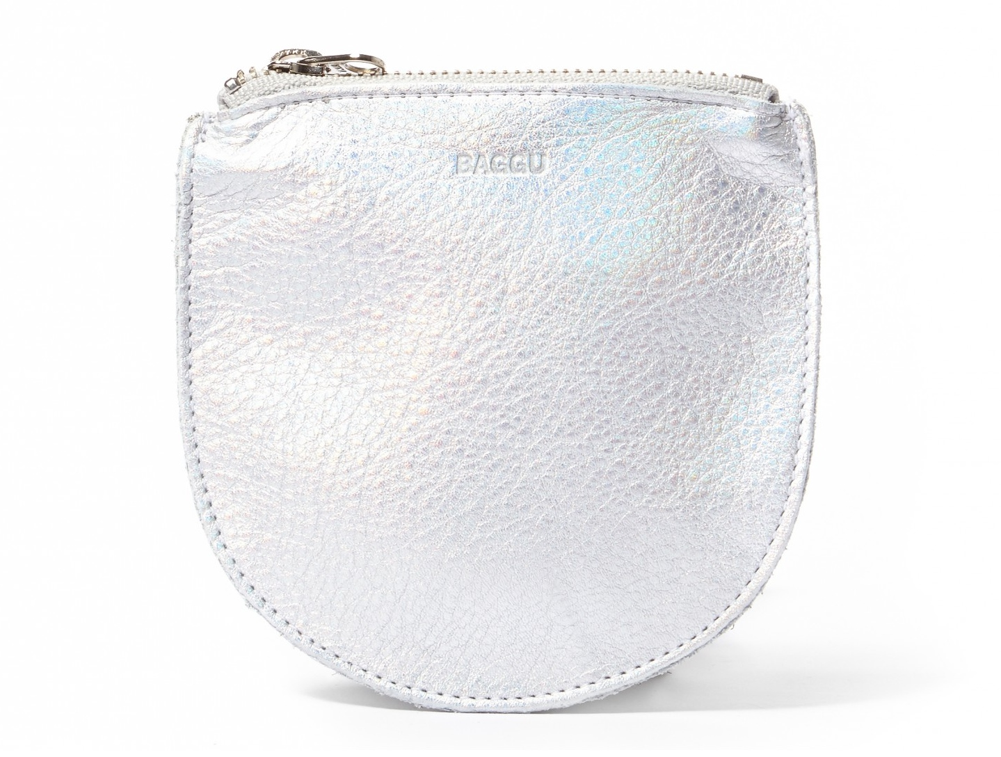 Baggu Silver pouch, comes in 3 different colors. Made in USA, and Under 30 dollars