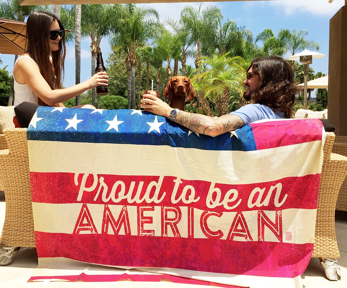 American Made Proud to Be An American Blanket, at Miss American Made's 4th of July Weekend