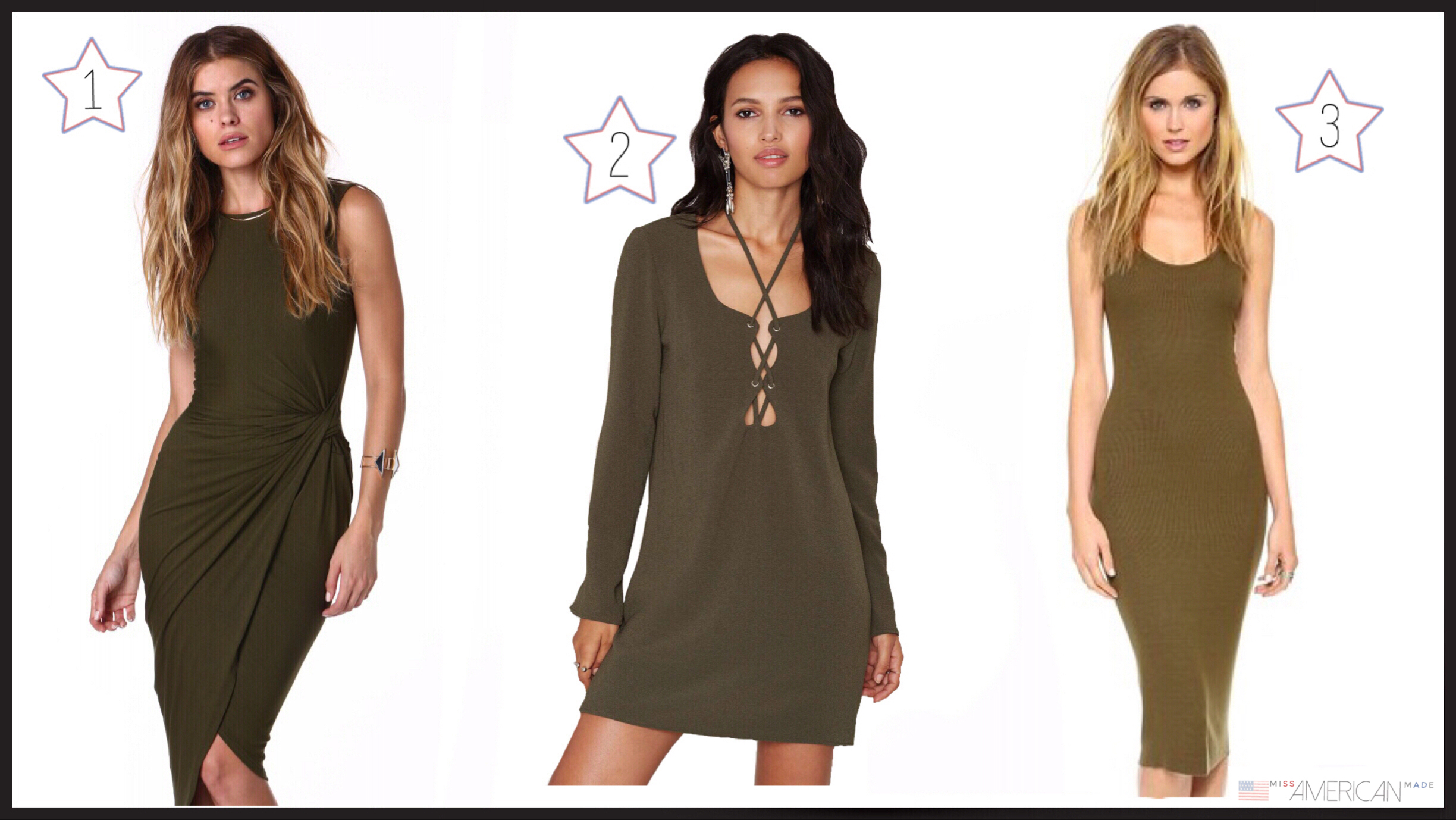 Olive Dresses Made In USA